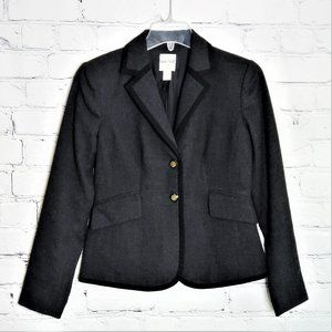 KATE HILL Charcoal Single Breast Blazer Size 2